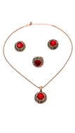 Picture of Elegant Colored Red Mexico 3 Pieces Jewelry Sets