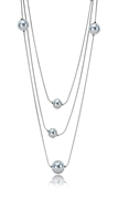 Picture of Novel Style Platinum Plated Zinc-Alloy Long Chain>20 Inches