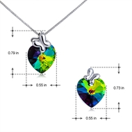 Picture of Love & Hearts Female Necklace And Earring Sets 2BL050475S