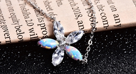 Picture for category 925 Sterling Silver Opal Necklaces
