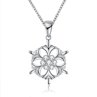 Show details for  Cubic Zirconia Holiday Pendant Necklaces 3LK053773N