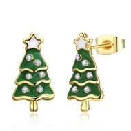 Show details for  Small Holiday Stud Earrings 3LK053851E