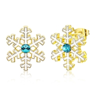 Show details for  Simple Holiday Stud Earrings 3LK053857E