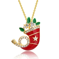 Show details for  Simple Holiday Pendant Necklaces 3LK053869N