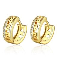 Picture of Origninal Medium Copper or Brass Small Hoop Earrings