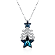 Show details for Sparkling Holiday Small Pendant Necklace