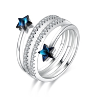 Show details for Most Popular Swarovski Element Platinum Plated Fashion Ring