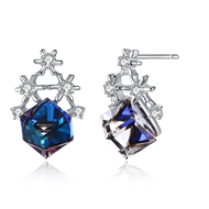 Show details for 925 Sterling Silver Swarovski Element Stud Earrings for Her