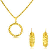 Picture of Dubai Casual Necklace and Earring Set Factory Direct