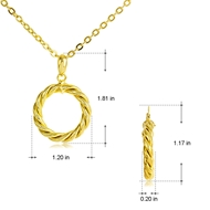 Picture of Dubai Gold Plated Necklace and Earring Set of Original Design