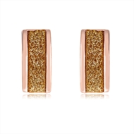Picture of Amazing Big Rose Gold Plated Stud Earrings
