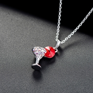 Picture of Most Popular Swarovski Element Platinum Plated Pendant Necklace
