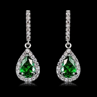 Picture of Nice Cubic Zirconia Green Dangle Earrings from Editor Picks