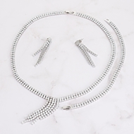 Picture of Hot Selling Platinum Plated Luxury 3 Piece Jewelry Set from Top Designer