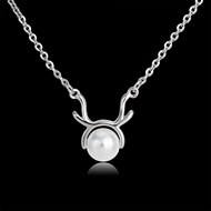 Picture of Copper or Brass Artificial Pearl Pendant Necklace Online Only