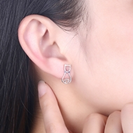 Picture of Fashion Purple Stud Earrings with Wow Elements