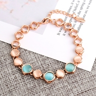 Picture of Trendy Rose Gold Plated Opal Fashion Bracelet with No-Risk Refund