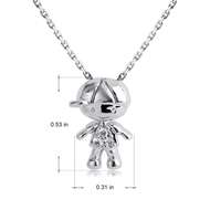 Picture of Unique Cubic Zirconia White Pendant Necklace