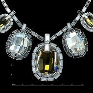 Picture of Simple And Elegant Big Swarovski Element Collar 16 OR 18 Inches