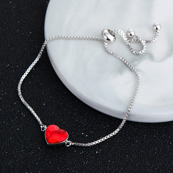 Picture of Funky Love & Heart Red Fashion Bracelet