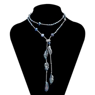 Picture of The Integrity Of  Big Platinum Plated Long Chain>20 Inches