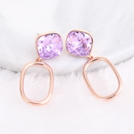Picture of Designer Rose Gold Plated Zinc Alloy Dangle Earrings with No-Risk Return