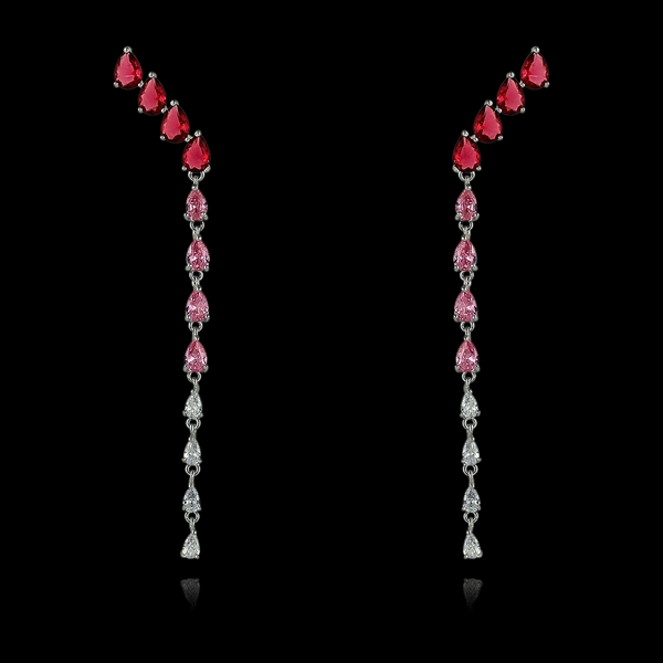 Picture of Great Value Red Big Dangle Earrings with Member Discount