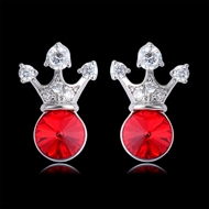 Picture of Affordable Zinc Alloy Red Stud Earrings From Reliable Factory