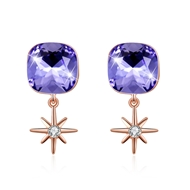 Show details for On-Trend 925 Sterling Silver Swarovski Element Stud Earrings from Reliable Manufacturer