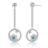 Show details for Low Price Platinum Plated Casual Dangle Earrings from Top Designer