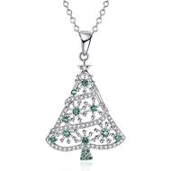 Show details for Unique Cubic Zirconia Platinum Plated Pendant Necklace