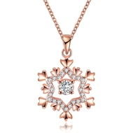 Show details for Nickel Free Rose Gold Plated Copper or Brass Pendant Necklace with No-Risk Refund