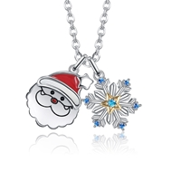 Show details for Hot Selling Blue Platinum Plated Pendant Necklace Online Only