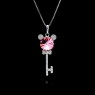 Picture of Most Popular Swarovski Element Key Pendant Necklace