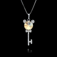 Picture of Reasonably Priced Platinum Plated Key Pendant Necklace with Low Cost