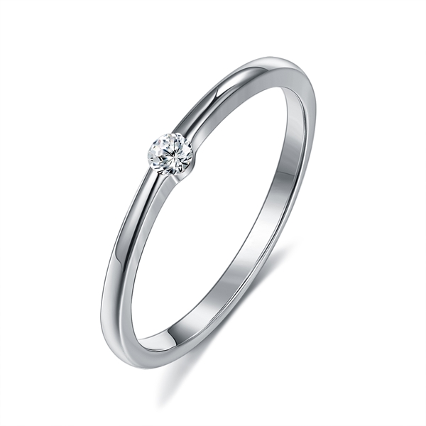 Picture of Affordable Platinum Plated 925 Sterling Silver Fashion Ring From Reliable Factory