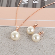 Picture of Shop Rose Gold Plated Zinc Alloy Necklace and Earring Set with Wow Elements