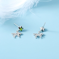 Picture of Simple Platinum Plated Stud Earrings with Speedy Delivery