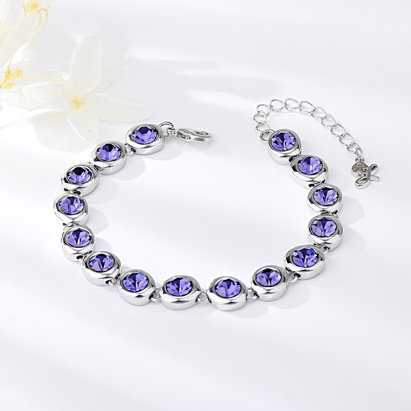 Picture of Recommended Purple Zinc Alloy Fashion Bracelet from Top Designer