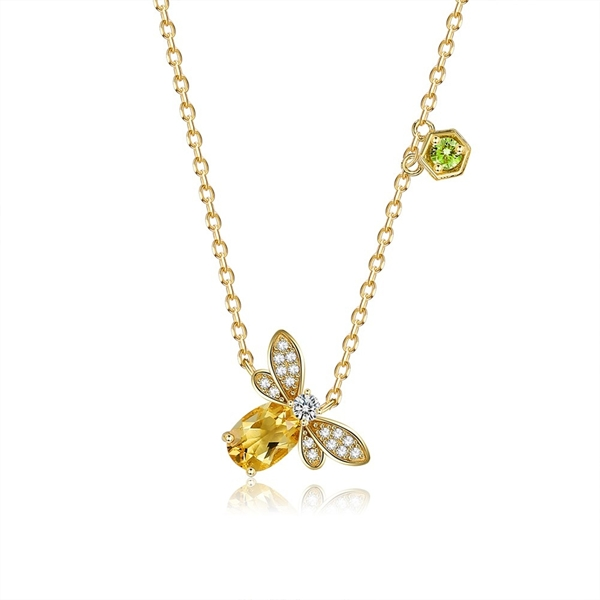Picture of Eye-Catching Yellow Small Pendant Necklace with Member Discount