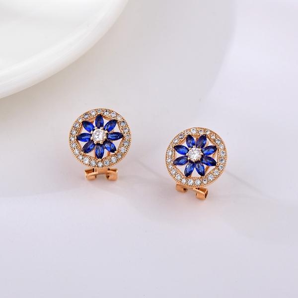 Picture of Inexpensive Rose Gold Plated Cubic Zirconia Stud Earrings from Reliable Manufacturer