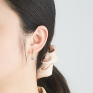 Picture of 925 Sterling Silver Gold Plated Small Hoop Earrings with Full Guarantee