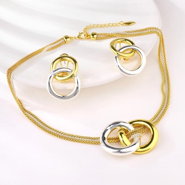 Picture of Funky Dubai Multi-tone Plated 2 Piece Jewelry Set