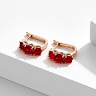 Picture of Staple Small Red Small Hoop Earrings