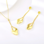 Picture of Fashion Big Platinum Plated 2 Piece Jewelry Set