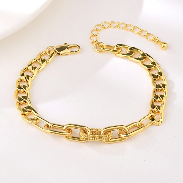 Picture of Inexpensive Copper or Brass Dubai Fashion Bracelet from Reliable Manufacturer